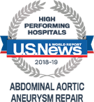 High Performing Hospitals, Abdominal Aortic Aneurysm Repair, U.S. News & World Reports 2018-2019